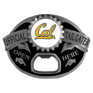 Cal Berkeley Bears Tailgater  Buckle - Quality detail and sturdy functionality highlight this great tailgater buckle that features an inset Cal Berkeley Bears team dome logo. Thank you for shopping with CrazedOutSports.com
