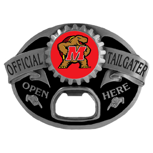 Maryland Terrapins Tailgater Buckle - Maryland Terrapins Tailgater Buckle quality detail and sturdy functionality highlight this great tailgater buckle that features an inset team dome logo. Thank you for shopping with CrazedOutSports.com