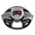 UNLV Rebels Tailgater Belt Buckle - Quality detail and sturdy functionality highlight this great tailgater buckle that features an inset domed emblem UNLV Rebels dome logo and functional bottle opener.