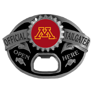 Minnesota Golden Gophers Tailgater  Buckle - Quality detail and sturdy functionality highlight this great tailgater buckle that features an inset team dome logo. Thank you for shopping with CrazedOutSports.com
