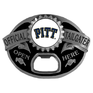 Pittsburgh Panthers Tailgater  Buckle - Quality detail and sturdy functionality highlight this great tailgater buckle that features an inset team dome logo. Thank you for shopping with CrazedOutSports.com