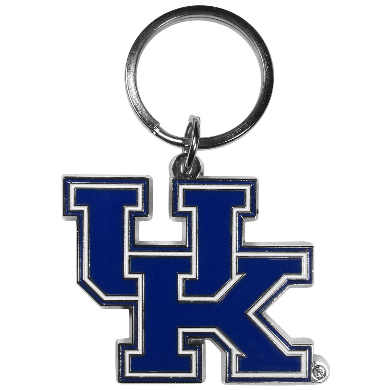 Kentucky Wildcats Enameled Key Chain - Our officially licensed chrome key chain have exceptional 3D detail that really sets this key chain apart from other Kentucky Wildcats key chains. The logo is finely carved and enamel filled with a high polish chrome finish.