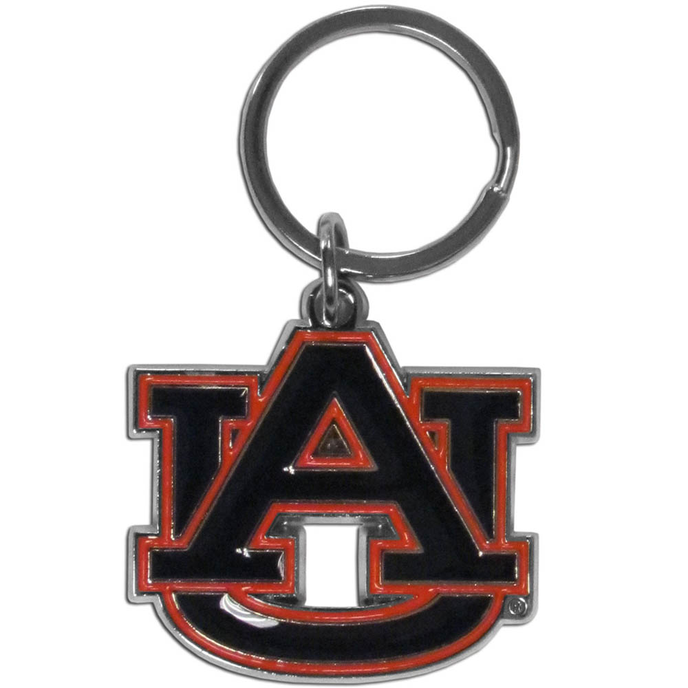 Auburn Tigers Enameled Key Chain - Our officially licensed chrome key chain have exceptional 3D detail that really sets this key chain apart from other Auburn Tigers key chains. The logo is finely carved and enamel filled with a high polish chrome finish.