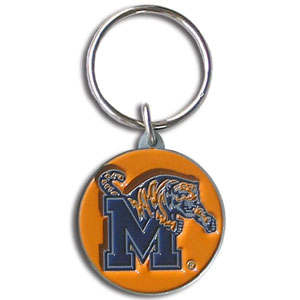 Memphis College Key Chain - Memphis College Key Chain team logo key ring is sculpted and enameled. Memphis College Key Chain is a great way to show school spirit! Check out our entire line of  collegiate key rings! Thank you for shopping with CrazedOutSports.com