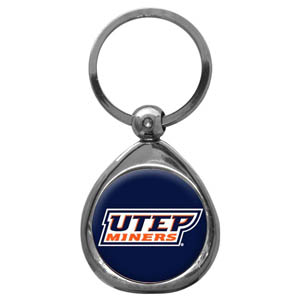 UTEP Miners Chrome Key Chain - Our collegiate chrome keychain has a high polish nickel keychain with domed team logo insert. Thank you for shopping with CrazedOutSports.com