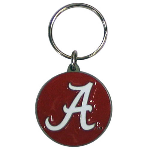 Alabama Crimson Tide College Key Chain -  Alabama Crimson Tide college team logo key ring is sculpted and enameled. A great way to show school spirit! Check out our entire line of collegiate key rings! Thank you for shopping with CrazedOutSports.com