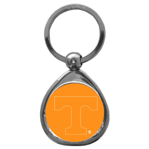 Tennessee Volunteers Chrome Key Chain - Our collegiate chrome keychain has a high polish nickel keychain with domed team logo insert. Thank you for shopping with CrazedOutSports.com