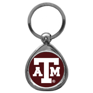 Texas A and M Aggies Chrome Key Chain - Our collegiate chrome keychain has a high polish nickel keychain with domed team logo insert. Thank you for shopping with CrazedOutSports.com