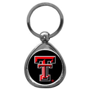 Texas Tech Raiders Chrome Key Chain - Our collegiate chrome keychain has a high polish nickel keychain with domed team logo insert. Thank you for shopping with CrazedOutSports.com