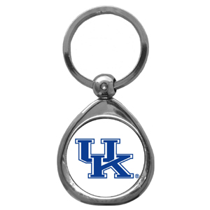 Kentucky Wildcats Chrome Key Chain - Our collegiate chrome keychain has a high polish nickel keychain with domed team logo insert. Thank you for shopping with CrazedOutSports.com