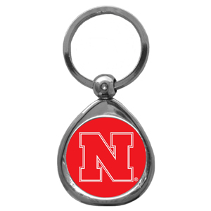 Nebraska Cornhuskers Chrome Key Chain - Our collegiate chrome keychain has a high polish nickel keychain with domed Nebraska Cornhuskers logo insert. Thank you for visiting CrazedOutSports.com