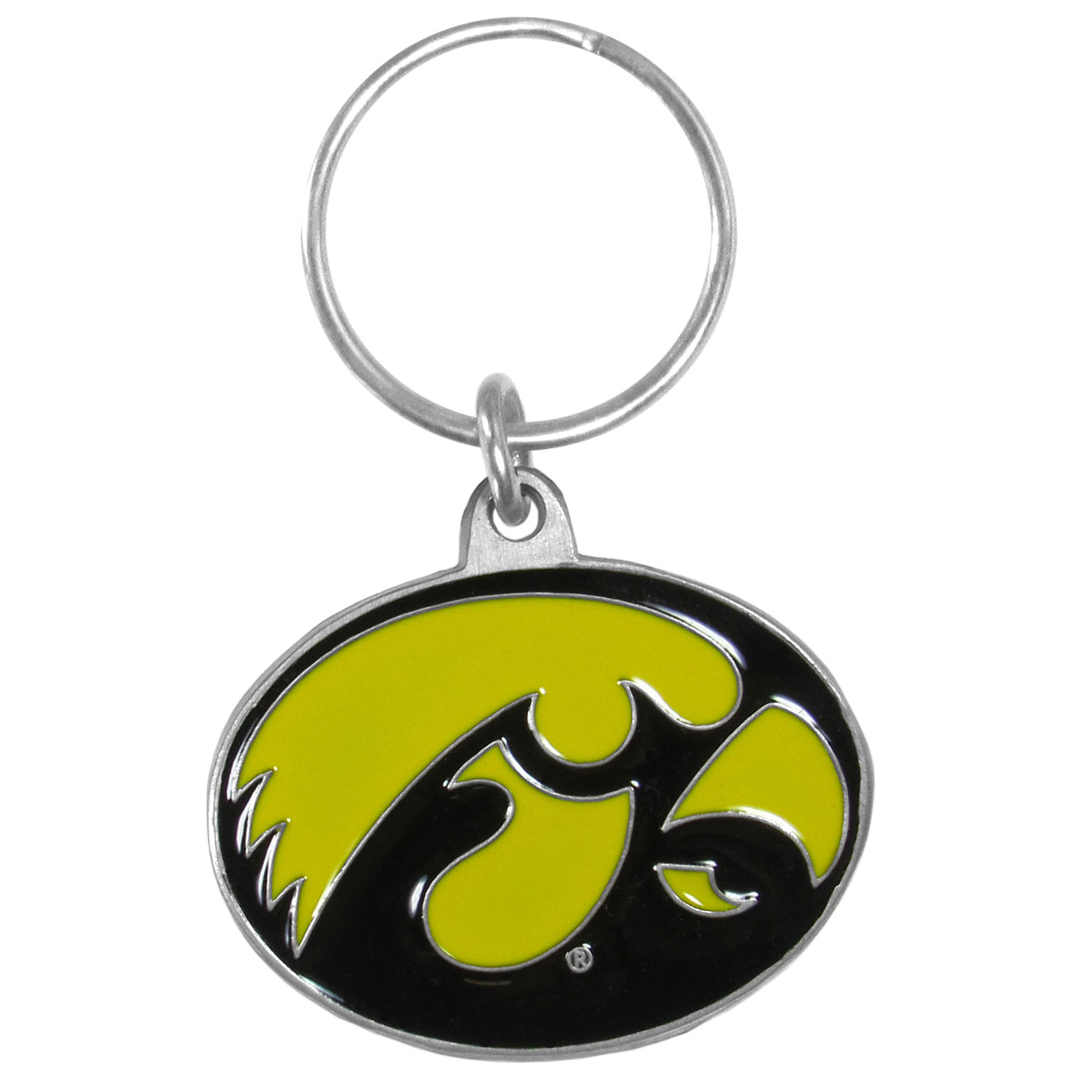 Iowa Hawkeyes Carved Metal Key Chain - Our fully cast, metal Iowa Hawkeyes key chain has intricate detail and expertly enameled color.