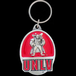 UNLV Rebels College Key Chain -  college team logo key ring is sculpted and enameled. A great way to show school spirit! Check out our entire line of  collegiate key rings! Thank you for shopping with CrazedOutSports.com