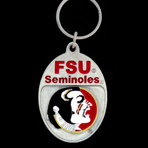 Florida State Seminoles College Key Chain - Florida State Seminoles college team logo key ring is sculpted and enameled. A great way to show Florida State Seminoles spirit! Check out our entire line of  collegiate key rings! Thank you for shopping with CrazedOutSports.com