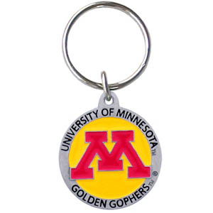 Minnesota Golden Gophers College Key Chain -  college team logo key ring is sculpted and enameled. A great way to show school spirit! Check out our entire line of  collegiate key rings! Thank you for shopping with CrazedOutSports.com