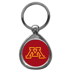 Minnesota Golden Gophers Chrome Key Chain - Our collegiate chrome keychain has a high polish nickel keychain with domed team logo insert. Thank you for shopping with CrazedOutSports.com