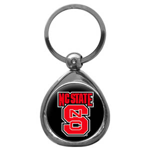 N. Carolina St. Chrome Key Chain - Our collegiate chrome keychain has a high polish nickel keychain with domed team logo insert. Thank you for shopping with CrazedOutSports.com