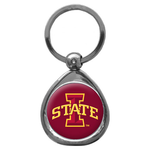 "Iowa St. Cyclones ""I"" Chrome Key Chain - Iowa St. Cyclones ""I"" Chrome collegiate chrome keychain has a high polish nickel keychain with domed team logo insert. Thank you for shopping with CrazedOutSports.com"