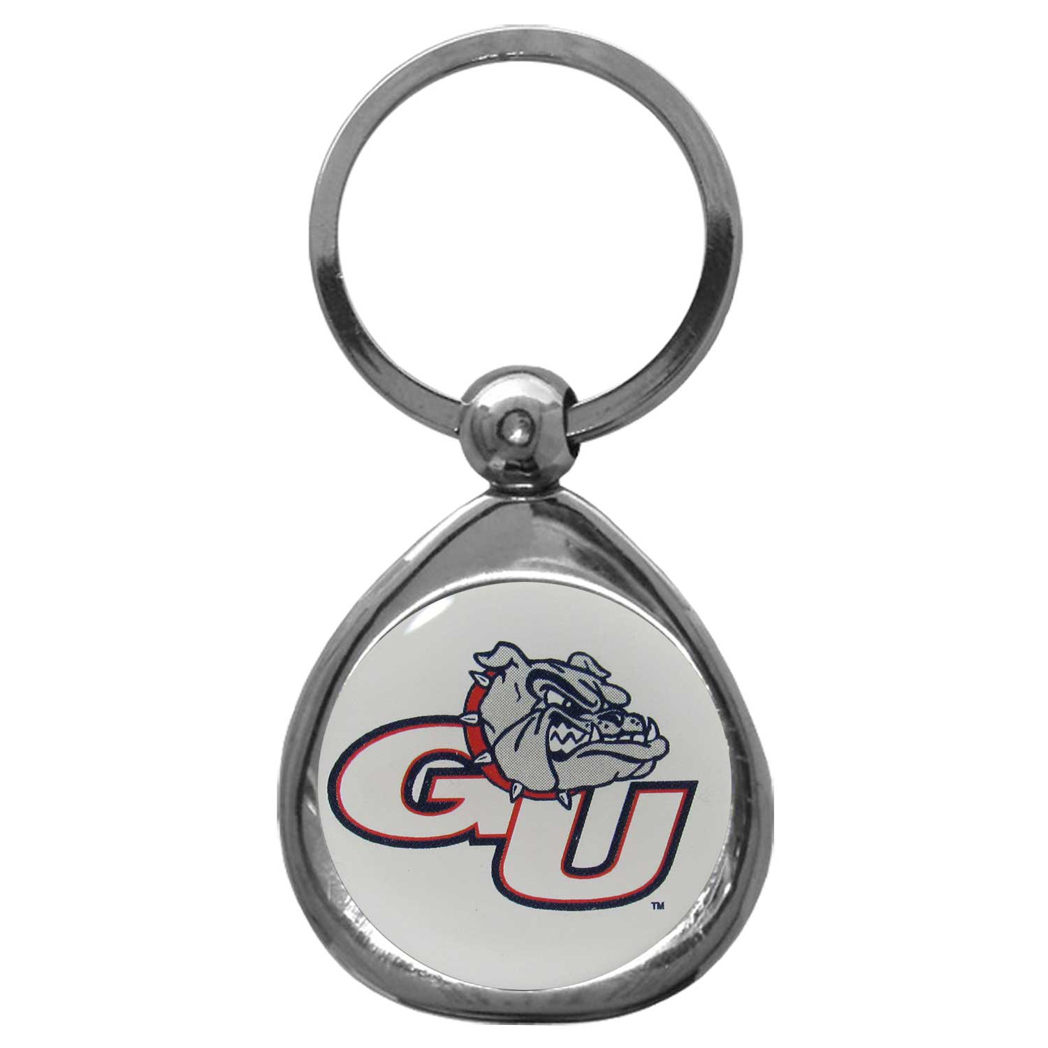 Gonzaga Bulldogs Chrome Key Chain - Our stylish, high-polish Gonzaga Bulldogs key chain is a great way to carry your team with you. The key fob features a raised team dome.