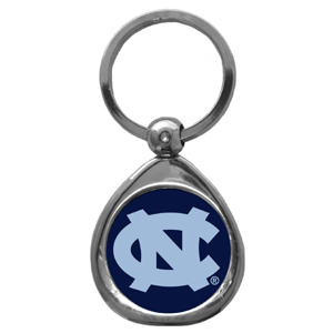N. Carolina Tar Heels Chrome Key Chain - Our collegiate chrome keychain has a high polish nickel keychain with domed team logo insert. Thank you for shopping with CrazedOutSports.com