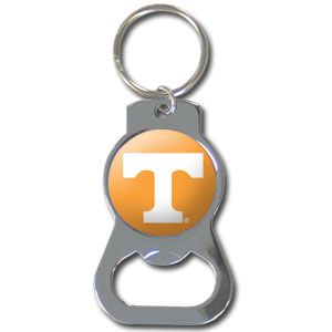 College Key Chain - Tennessee Volunteers - Our collegiate bottle opener key chain has a polished chrome finish and features the school logo.  Thank you for shopping with CrazedOutSports.com