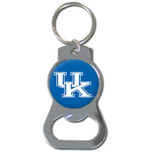 Kentucky Bottle Opener Key Chain - Our collegiate bottle opener key chain has a polished chrome finish and features the school logo. Thank you for shopping with CrazedOutSports.com