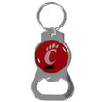 Cincinnati Bearcats Bottle Opener Key Chain - Hate searching for a bottle opener, get our Cincinnati Bearcats bottle opener key chain and never have to search again! The high polish key chain features a bright team emblem.