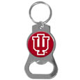 Indiana Hoosiers Bottle Opener Key Chain - Our collegiate bottle opener key chain has a polished chrome finish and features the school logo. Thank you for shopping with CrazedOutSports.com