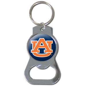College Key Chain - Auburn Tigers - Our collegiate bottle opener key chain has a polished chrome finish and features the Auburn Tigers logo.  Thank you for shopping with CrazedOutSports.com