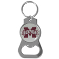 Mississippi St. Bulldogs Bottle Opener Key Chain - Hate searching for a bottle opener, get our Mississippi St. Bulldogs bottle opener key chain and never have to search again! The high polish key chain features a bright team emblem.