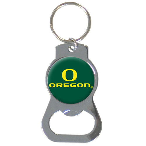 Oregon Bottle Opener Key Chain - Our collegiate bottle opener key chain has a polished chrome finish and features the school logo. Thank you for shopping with CrazedOutSports.com