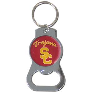 USC Bottle Opener Key Chain - Our collegiate bottle opener key chain has a polished chrome finish and features the school logo. Thank you for shopping with CrazedOutSports.com