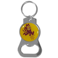 Arizona St. Sun Devils Bottle Opener Key Chain - Hate searching for a bottle opener, get our Arizona St. Sun Devils bottle opener key chain and never have to search again! The high polish key chain features a bright team emblem.