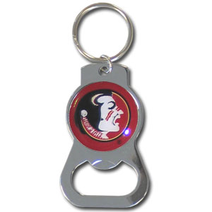 College Key Chain - Florida St Seminoles - Our collegiate bottle opener key chain has a polished chrome finish and features the Florida State Seminoles school logo.  Thank you for shopping with CrazedOutSports.com