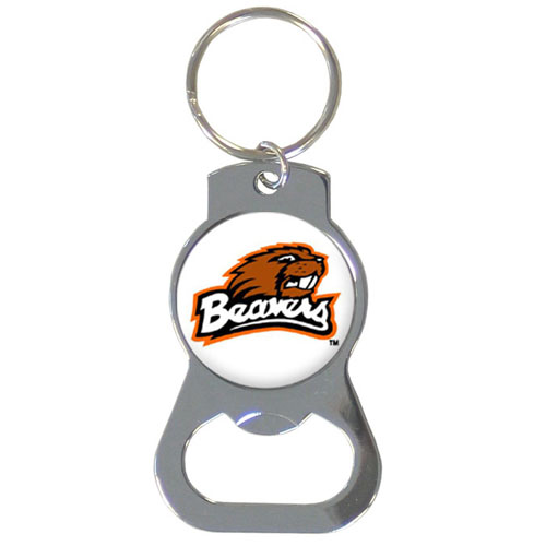 Oregon St. Bottle Opener Key Chain - Our collegiate bottle opener key chain has a polished chrome finish and features the school logo. Thank you for shopping with CrazedOutSports.com