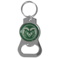Colorado St. Rams Bottle Opener Key Chain - Hate searching for a bottle opener, get our Colorado St. Rams bottle opener key chain and never have to search again! The high polish key chain features a bright team emblem.