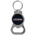 UCONN Huskies Bottle Opener Key Chain - Our collegiate bottle opener key chain has a polished chrome finish and features the school logo. Thank you for shopping with CrazedOutSports.com