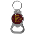 Iowa St. Cyclones Bottle Opener Key Chain - Hate searching for a bottle opener, get our Iowa St. Cyclones bottle opener key chain and never have to search again! The high polish Iowa St. Cyclones Bottle Opener key chain features a bright team emblem.