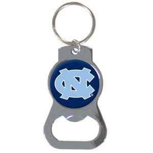 College Key Chain Tar Heels - Our collegiate bottle opener key chain has a polished chrome finish and features the school logo. Thank you for shopping with CrazedOutSports.com