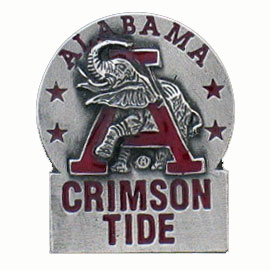 College Team Logo Pin - Alabama Crimson Tide - Our Alabama Crimson Tide college pins are finely sculpted with hand enameled detail. Check out our entire line of  collegiate merchandise! Alabama Crimson Tide. Check out our entire line of  licensed sports merchandise! Thank you for shopping with CrazedOutSports.com