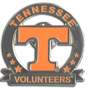 College Pin - Tennessee Volunteers - Our glossy collegiate pins are a great way to show of your school pride. Each pin features a hand enameled finish with a hard glossy coating. Thank you for shopping with CrazedOutSports.com