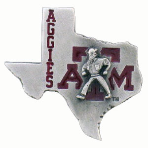 College Team Logo Pin - Texas AandM Aggies - Our college pins are finely sculpted with hand enameled detail. Check out our entire line of  collegiate merchandise! Alabama Crimson Tide. Check out our entire line of  licensed sports merchandise! Thank you for shopping with CrazedOutSports.com