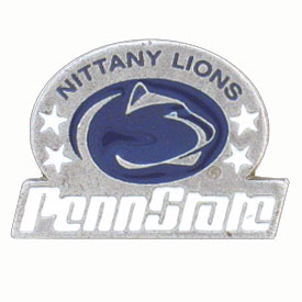 College Team Logo Pin - Penn State Nittany Lions - Our college pins are finely sculpted with hand enameled detail. Check out our entire line of  collegiate merchandise! Alabama Crimson Tide. Check out our entire line of  licensed sports merchandise! Thank you for shopping with CrazedOutSports.com