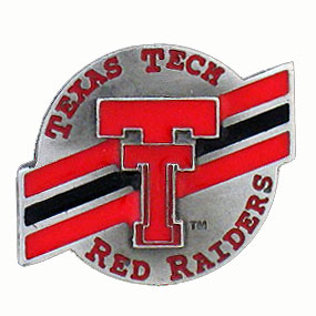College Team Logo Pin - Texas Tech Red Raiders - Our college pins are finely sculpted with hand enameled detail. Check out our entire line of  collegiate merchandise! Alabama Crimson Tide. Check out our entire line of  licensed sports merchandise! Thank you for shopping with CrazedOutSports.com