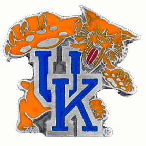 College Team Logo Pin - Kentucky Wildcats - Our college pins are finely sculpted with hand enameled detail. Check out our entire line of  collegiate merchandise! Alabama Crimson Tide. Check out our entire line of  licensed sports merchandise! Thank you for shopping with CrazedOutSports.com