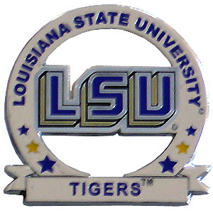 LSU Tigers Glossy College Pin - LSU Tigers glossy pin is a great way to show of your school pride pin features a hand enameled finish with a hard glossy coating. Thank you for shopping with CrazedOutSports.com
