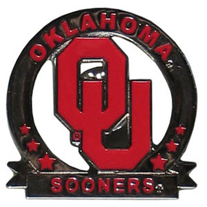 Glossy College Pin - Oklahoma - Our glossy collegiate pins are a great way to show of your school pride. Each pin features a hand enameled finish with a hard glossy coating. Thank you for shopping with CrazedOutSports.com