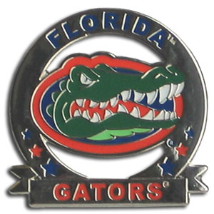 College Pin - Florida Gators - Our glossy collegiate pins are a great way to show of your Florida Gators school pride. Each pin features a hand enameled finish with a hard glossy coating. Thank you for shopping with CrazedOutSports.com