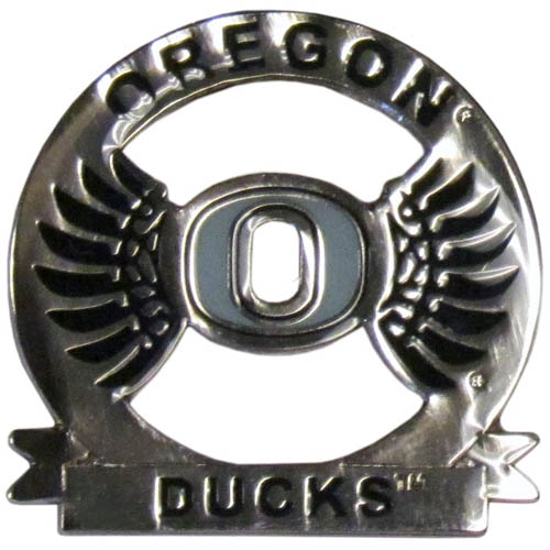 Oregon Glossy Pin - Our glossy collegiate pins are a great way to show of your school pride. Each pin features a hand enameled finish with a hard glossy coating. Thank you for shopping with CrazedOutSports.com