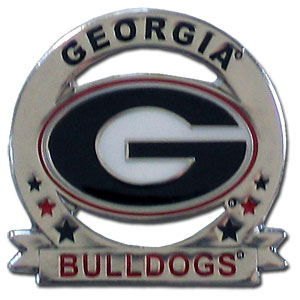 Glossy College Pin - Georgia Bulldogs - Our glossy collegiate Georgia Bulldogs pins are a great way to show of your Georgia Bulldogs school pride. Each pin features a hand enameled finish with a hard glossy coating. Thank you for shopping with CrazedOutSports.com